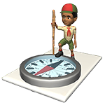 Boy Scout on a compass